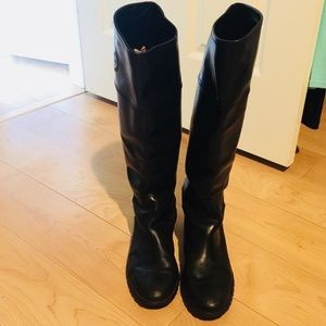 Black Tory Burch slip on boots